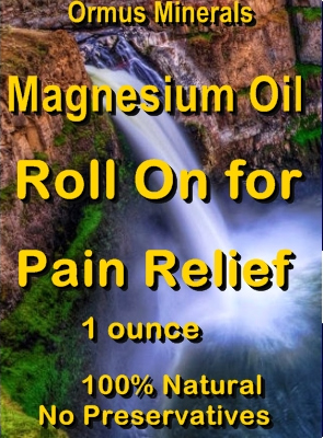Ormus Minerals -Magnesium Oil Roll On for Pain Relief